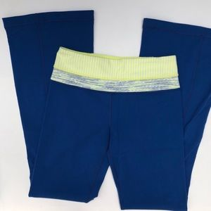 Lululemon Blue Flare Yoga Pants
